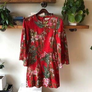 Isabel Marant ETOLE Floral Mini Red Dress